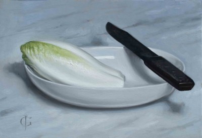 Chicory, Bowl & Knife