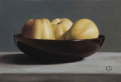 Apples in a Brown Bowl