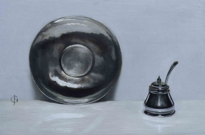 Silver Plate and Mustard Pot