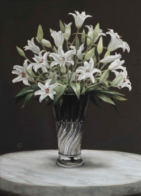 Lillies in a Deco Vase