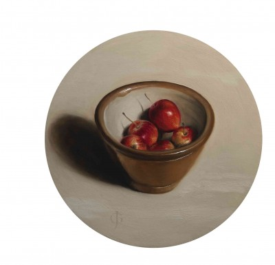 Crab Apples in a Pottery Bowl